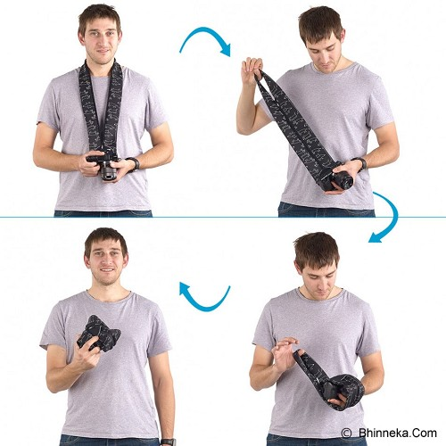 MIGGO Camera Strap and Wrap for CSC [SR-CSC PR 50] - Pebbel Road - Camera Strap